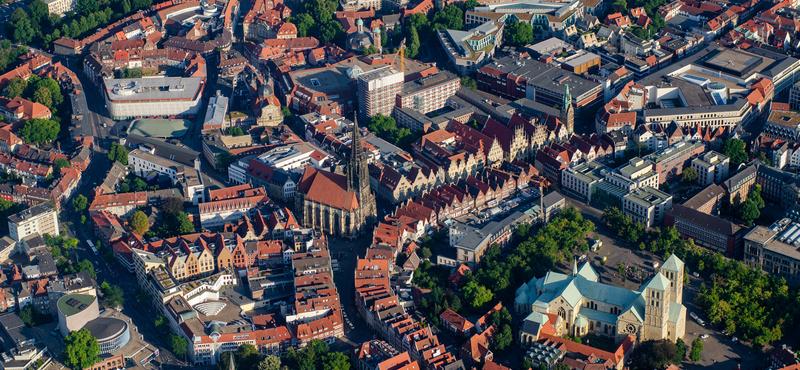 CityGames Münster: Münster von oben